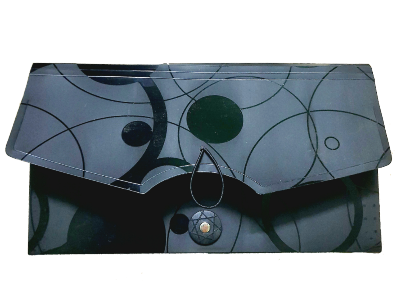Saya 7 Pocket Cheque Folder Expanding Bag, SY-013,  Black Color Pack of 1