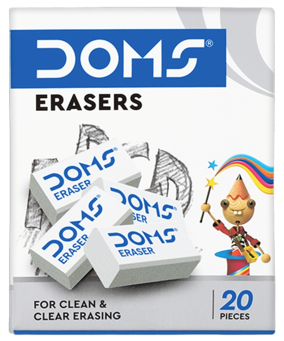 Doms Eraser White 1  Pack  of  (20 Pieces)