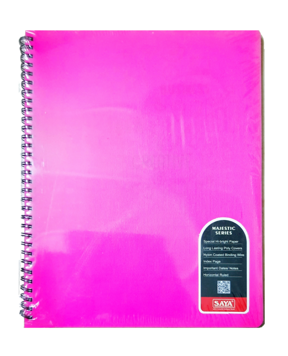 Saya Spiral Notebook, Majestic Series, Single Line, 160 Pages, 27.9 X 21.6 cm, Pack of 1