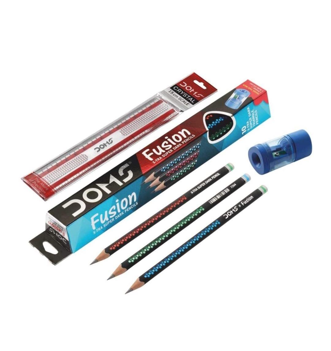 Doms Fusion Pencil Pack of 10 Pencils