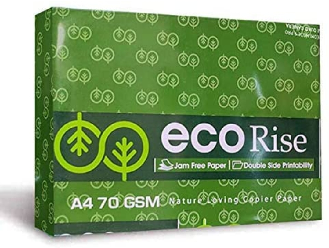 Eco Rise Printing Copy A4 Size JK Paper Eco Tree Friendly 70 GSM 500 Sheet Pack of 1