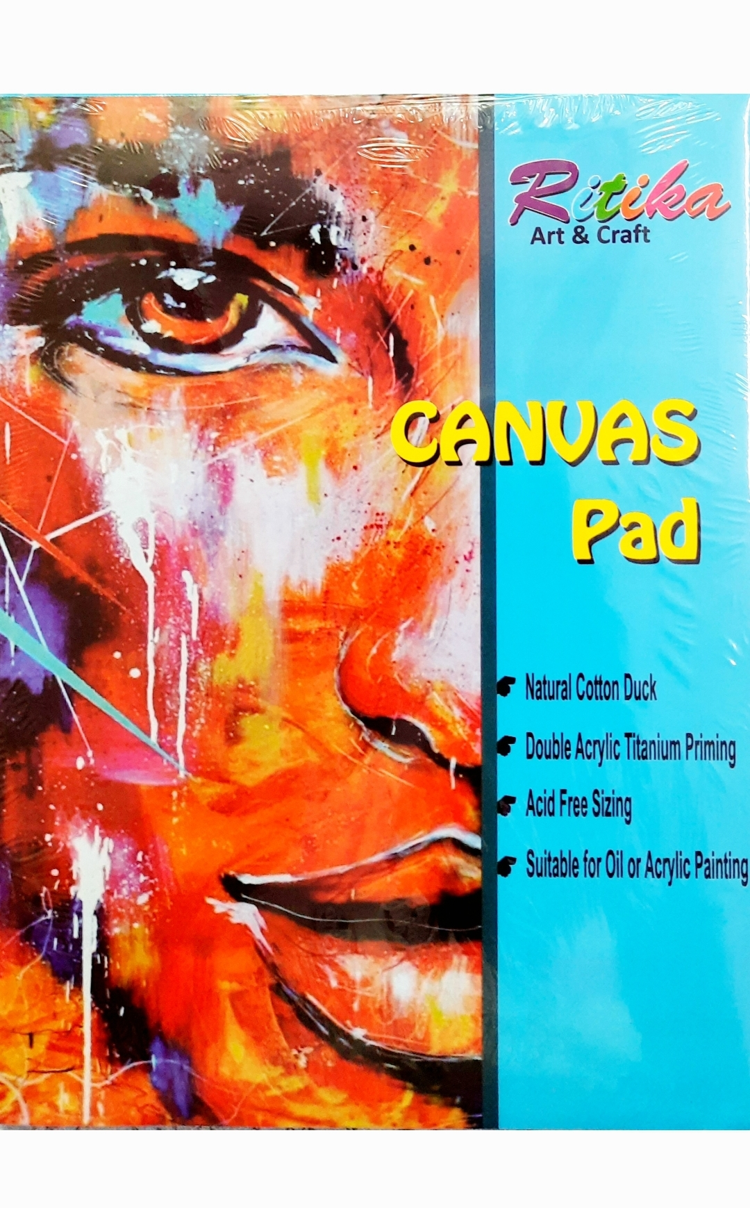 Ritika Art & Craft Canvas Pad 9X12 Inch with 10 Sheets (Pack of 1 Ped)