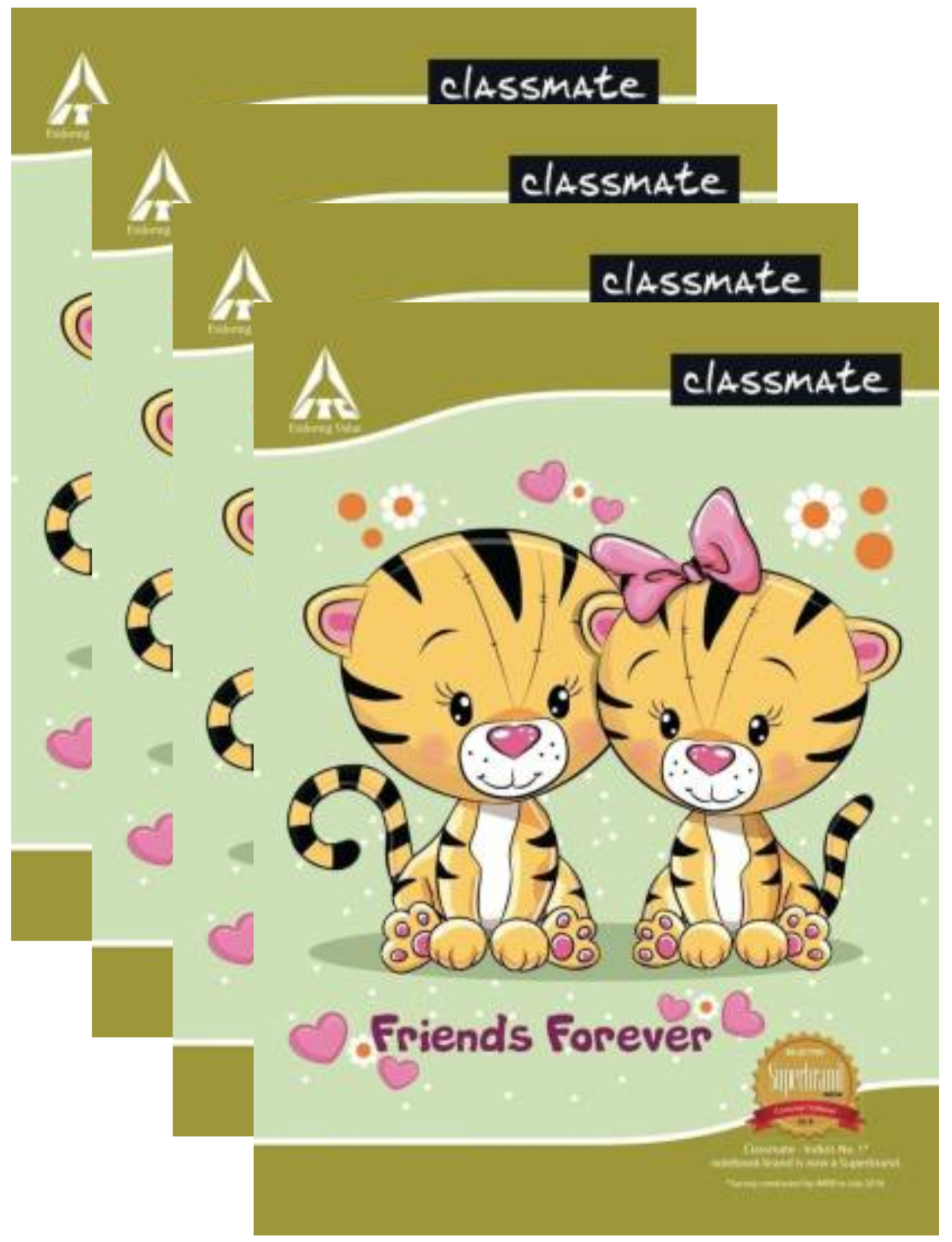 Classmate Small Notebook Test Copy Soft Cover Single Line 48 Pages 19X15.5 CM Pack of 4