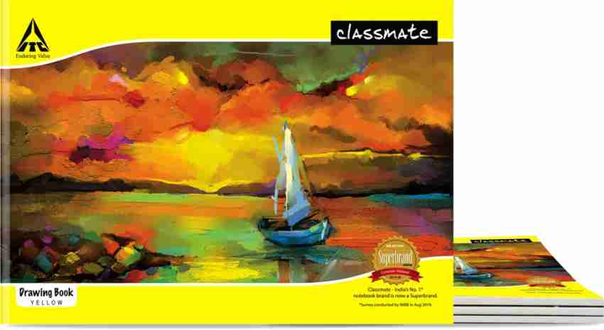Classmate Drawing Exercise Note Book Unruled 40 Pages 21X29.7 cm Pack of 1