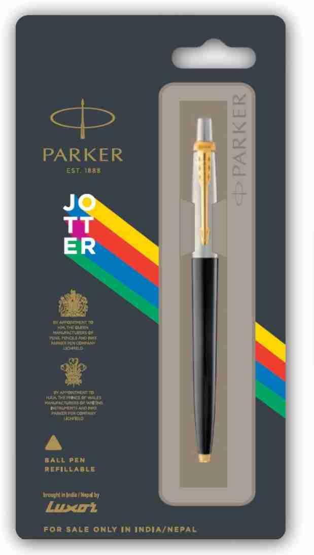 Parker New Jotter Standard Gold Trim Ball Pen  Pack of 1