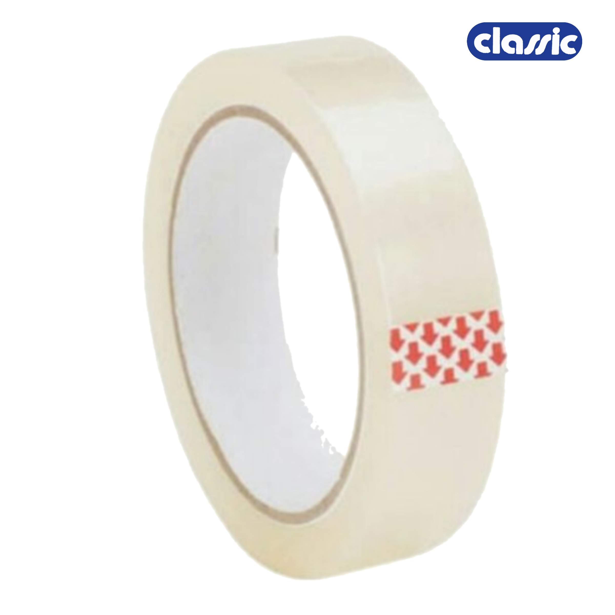 Classic 30 Micron 24 mm/1 Inch Transparent Self Adhesive Tape, Premium Quality, Pack of 1 Roll