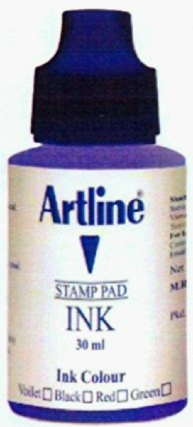 Artline Stamp Pad Ink Violet Ink 30 ML Pack of 1 Ink