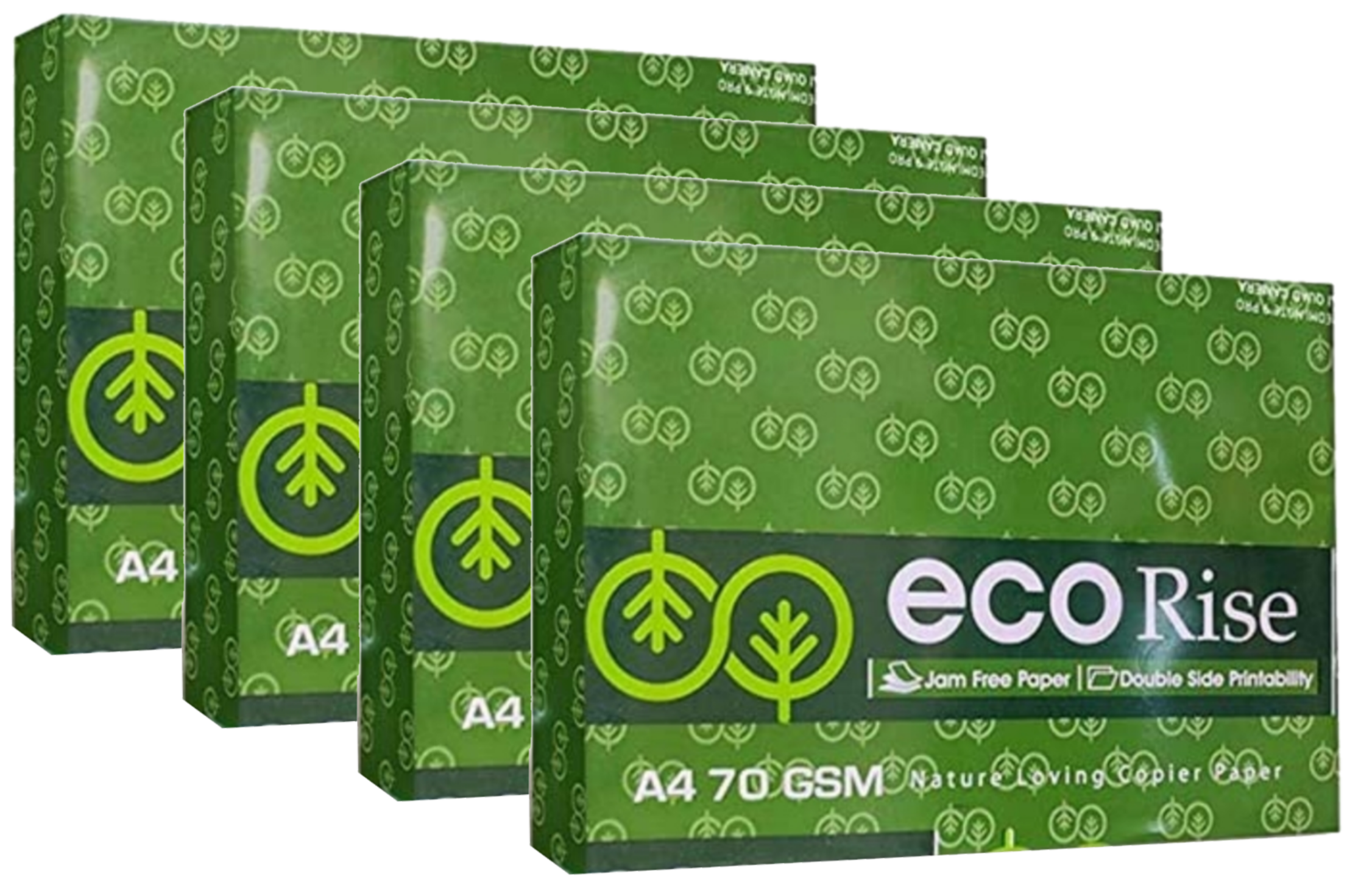 Eco Rise Printing Copy A4 Size JK Paper Eco Tree Friendly 70 GSM 500 Sheet Pack of  4
