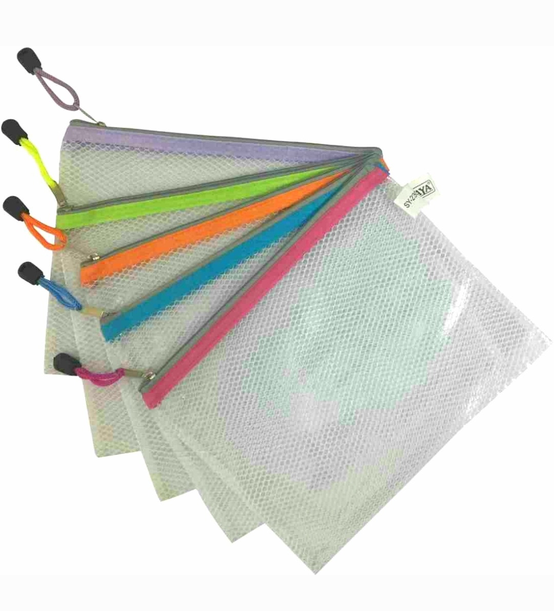 Saya PVC Zipper Bag, SY - 2305, Nylon Zip Bag, 1 Pack of 1 Bag