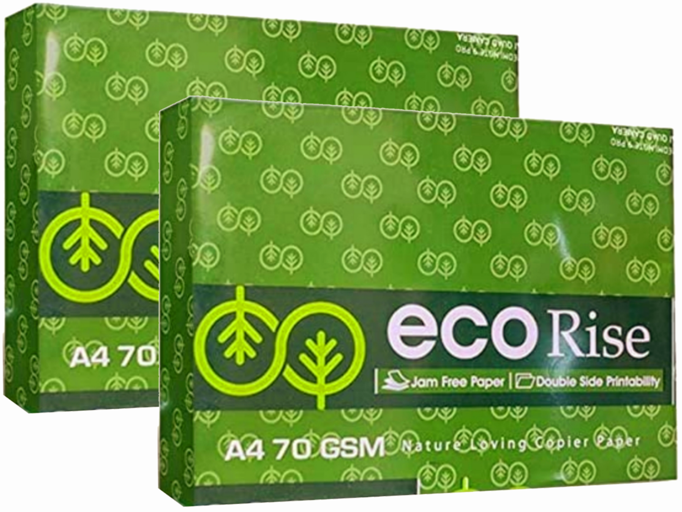 Eco Rise Printing Copy A4 Size JK Paper Eco Tree Friendly 70 GSM 500 Sheet Pack of 2