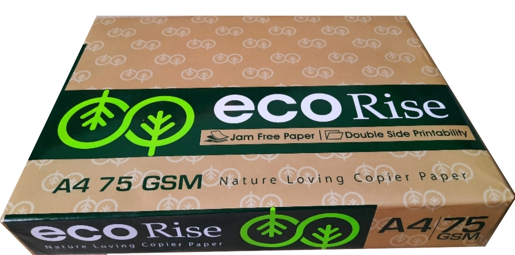 Eco Rise Printing Copy A4 Size JK Paper Eco Tree Friendly 75 GSM 500 Sheet Pack of 1