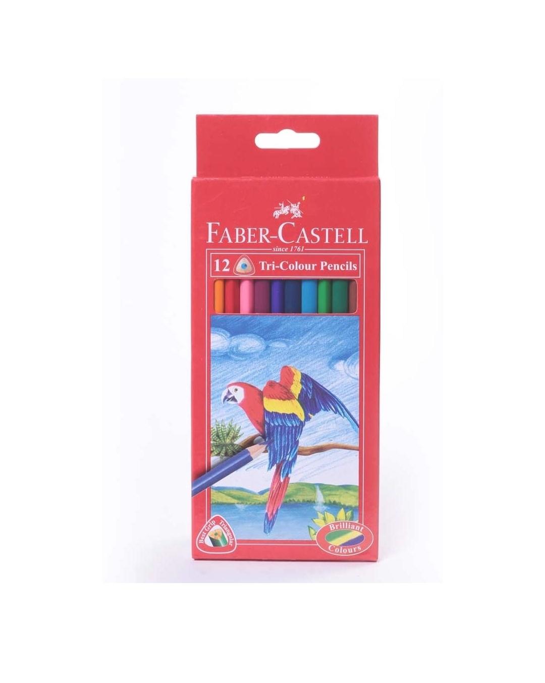 Faber Castell Colour ME Grip Triangular Shape Regular Size Colour Pencil Assorted Pack of 12