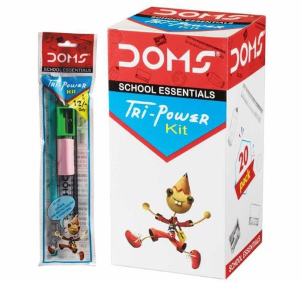 Doms Tri Power School Essential Pencil Kit Pack of 10 Kit
