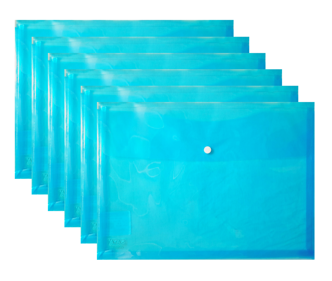 Saya Document Bag Executive, SY - 209OP, Blue, Pack of 6