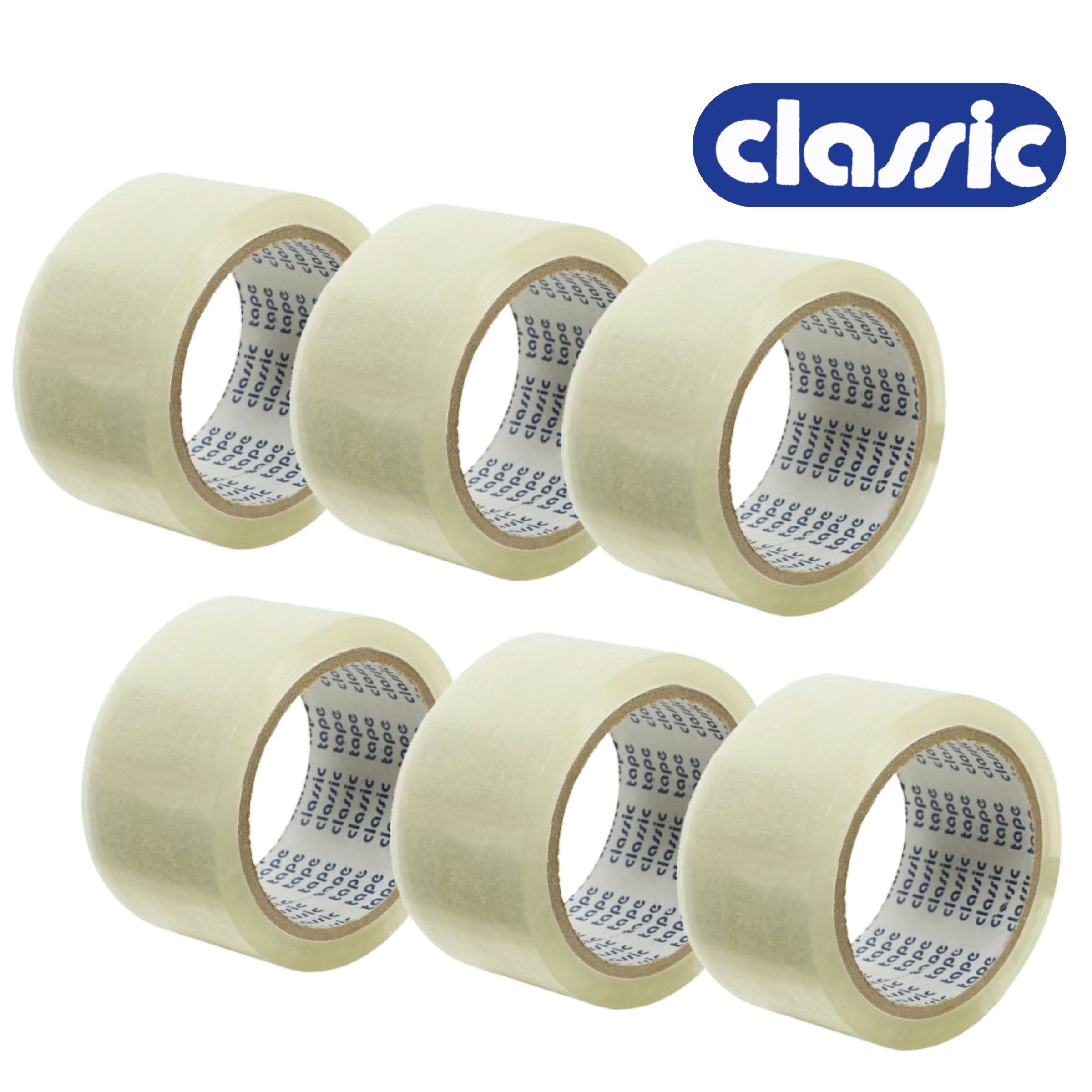 Classic 30 Micron 48 mm/2 Inch Transparent Self Adhesive Tape, Premium Quality, 1 Pack of 6 Roll