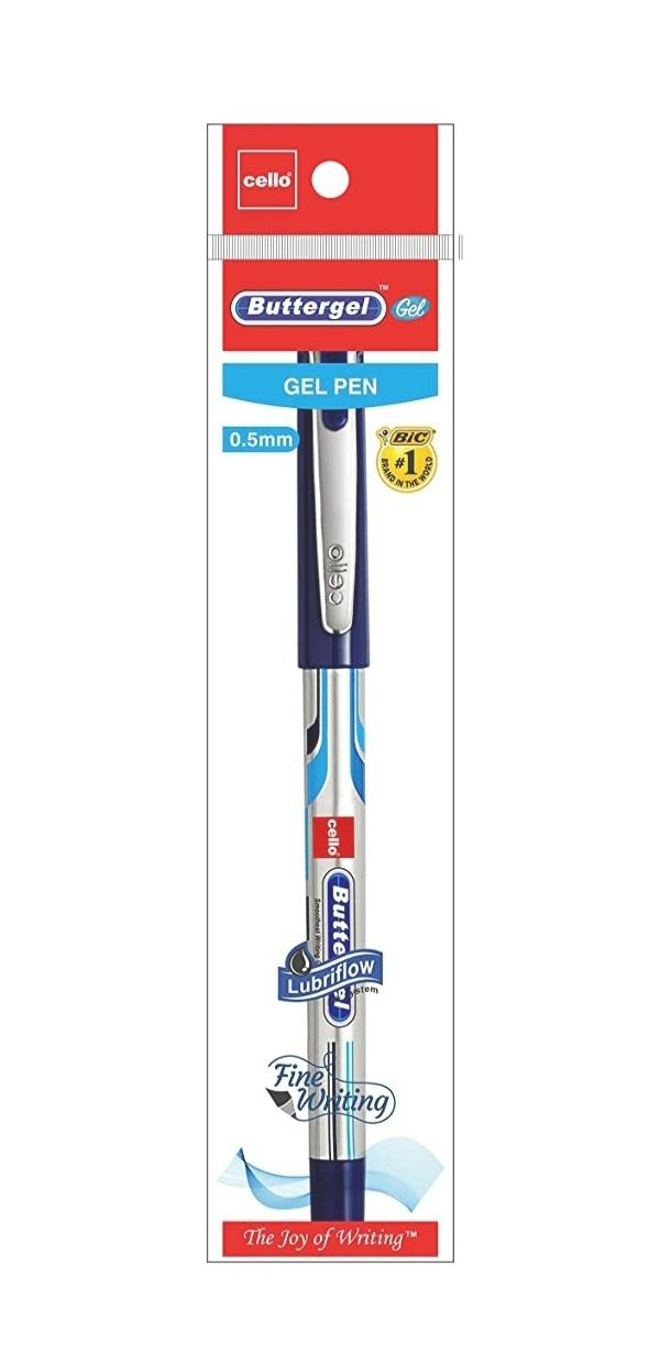 Cello ButterGel Gel Pen 0.5 mm Blue Pen Pack of 1