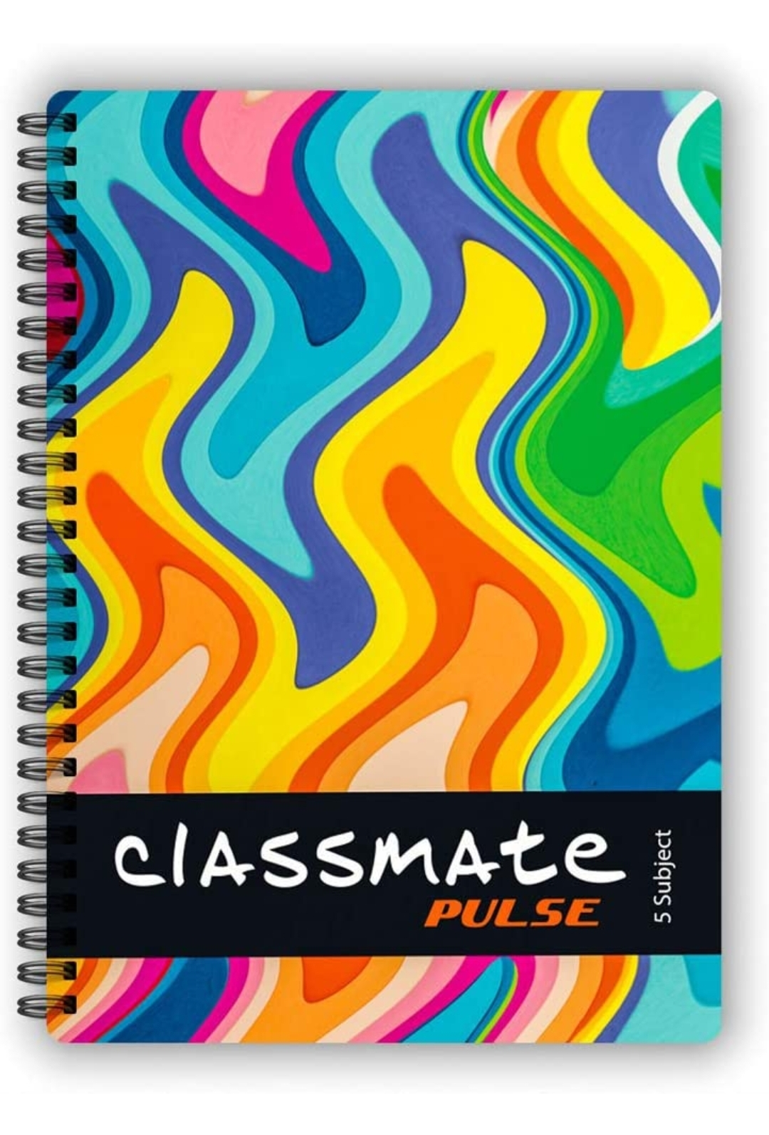 Classmate Pulse Notebook Soft Cover 5 Subject Spiral Binding Notebook Single Line 29.7 X 21 cm 250 Pages Pack of 1