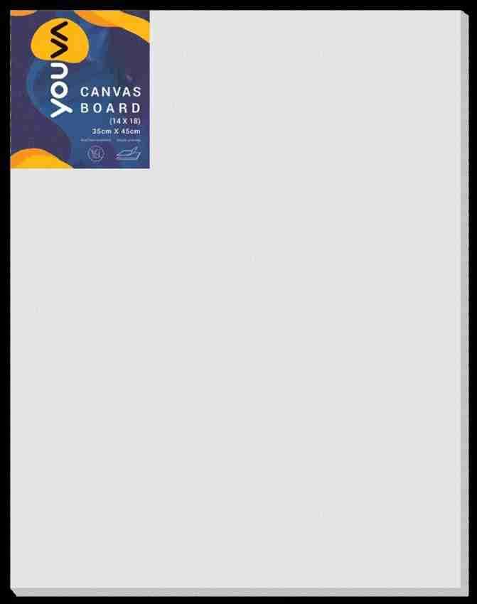 Navneet Youva Canvas Board 14X18 Inch Cotton Medium Grain Canvas Board Set of 1