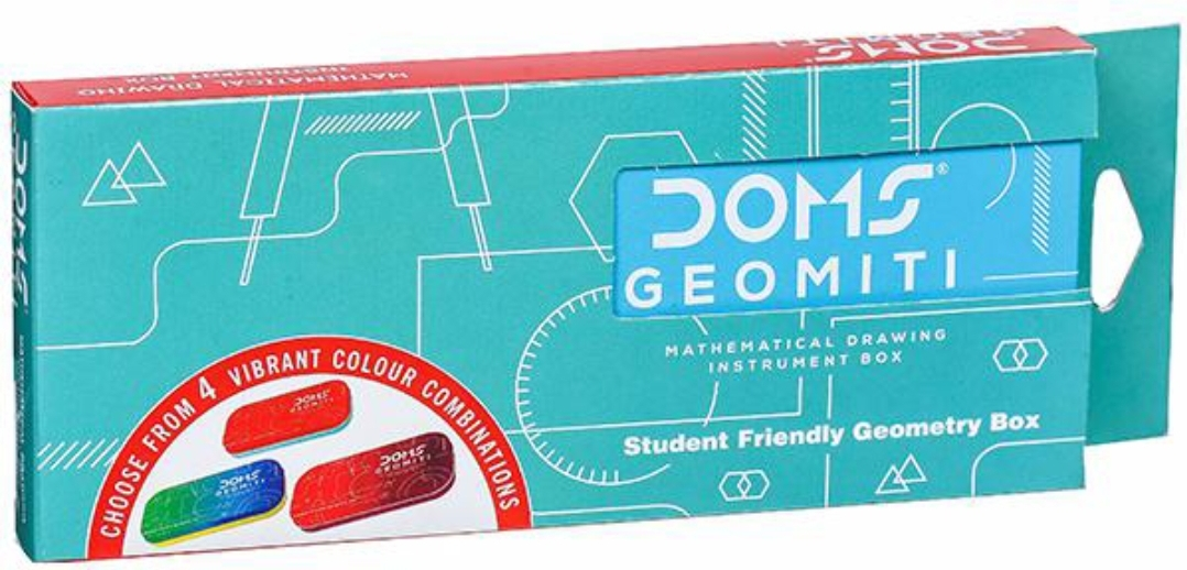 Doms Geomiti Mathematical Drawing Instrument Box