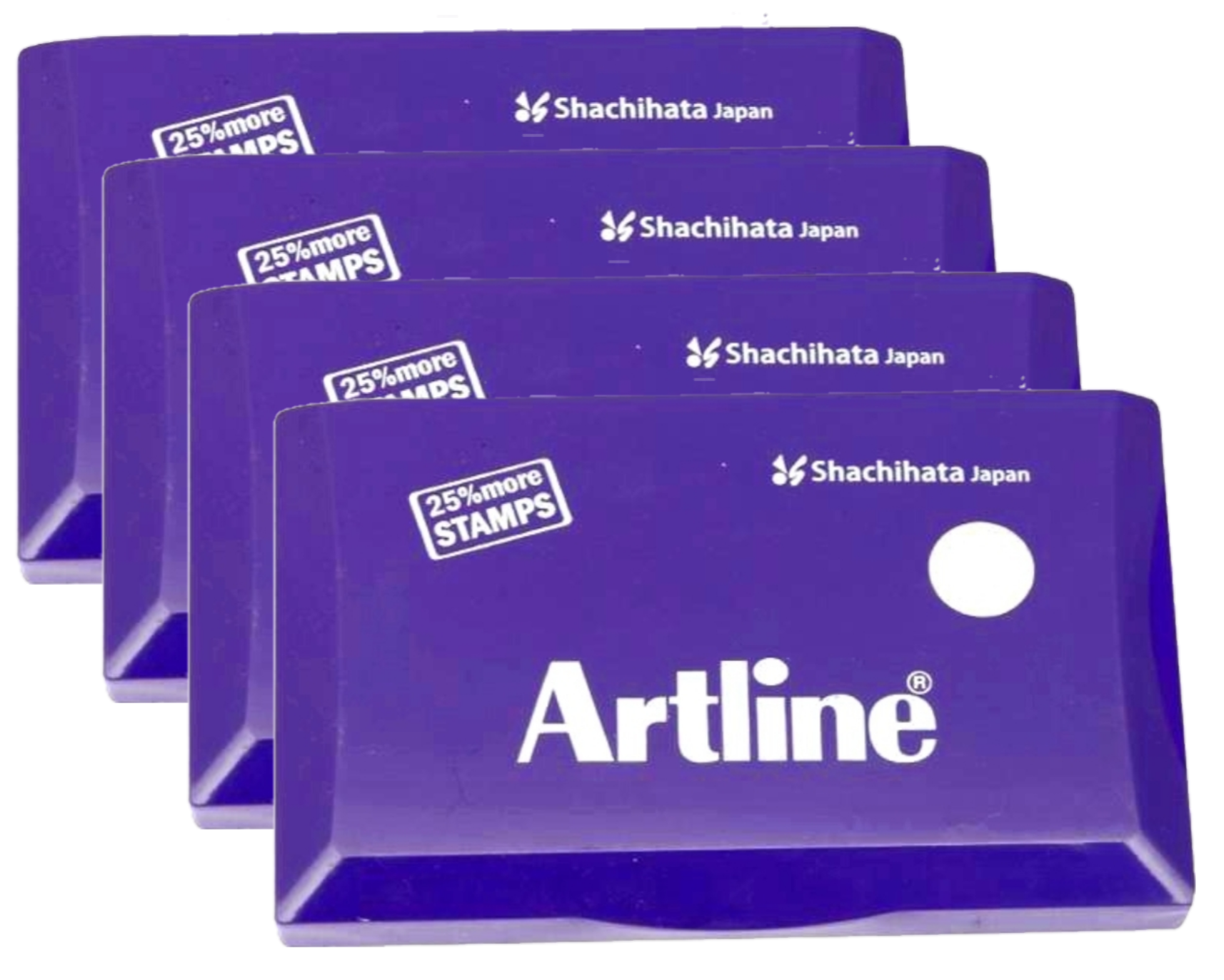 Artline Stamp Pad Small Size 101X61 MM Violet Ink  Pack of 4 Stamp Pad