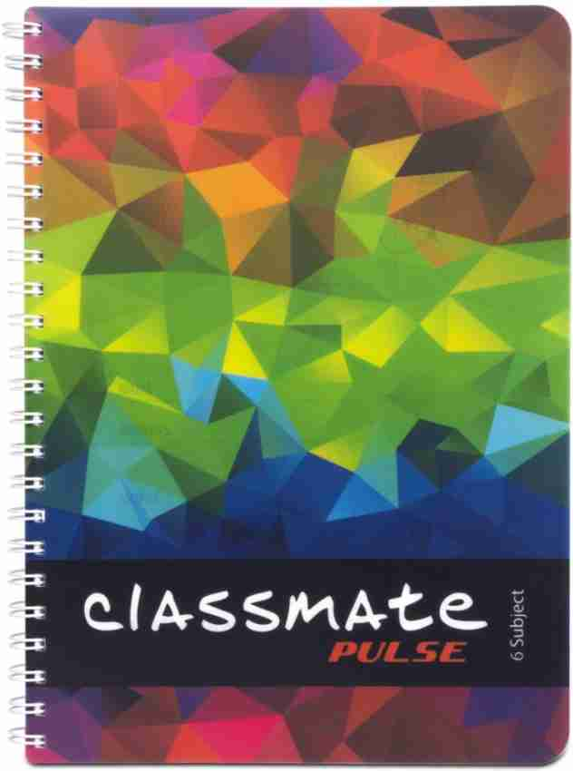 Classmate Pulse Notebook Soft Cover 6 Subject Spiral Binding Notebook Single Line 29.7 X 21 cm 300 Pages Pack of 1