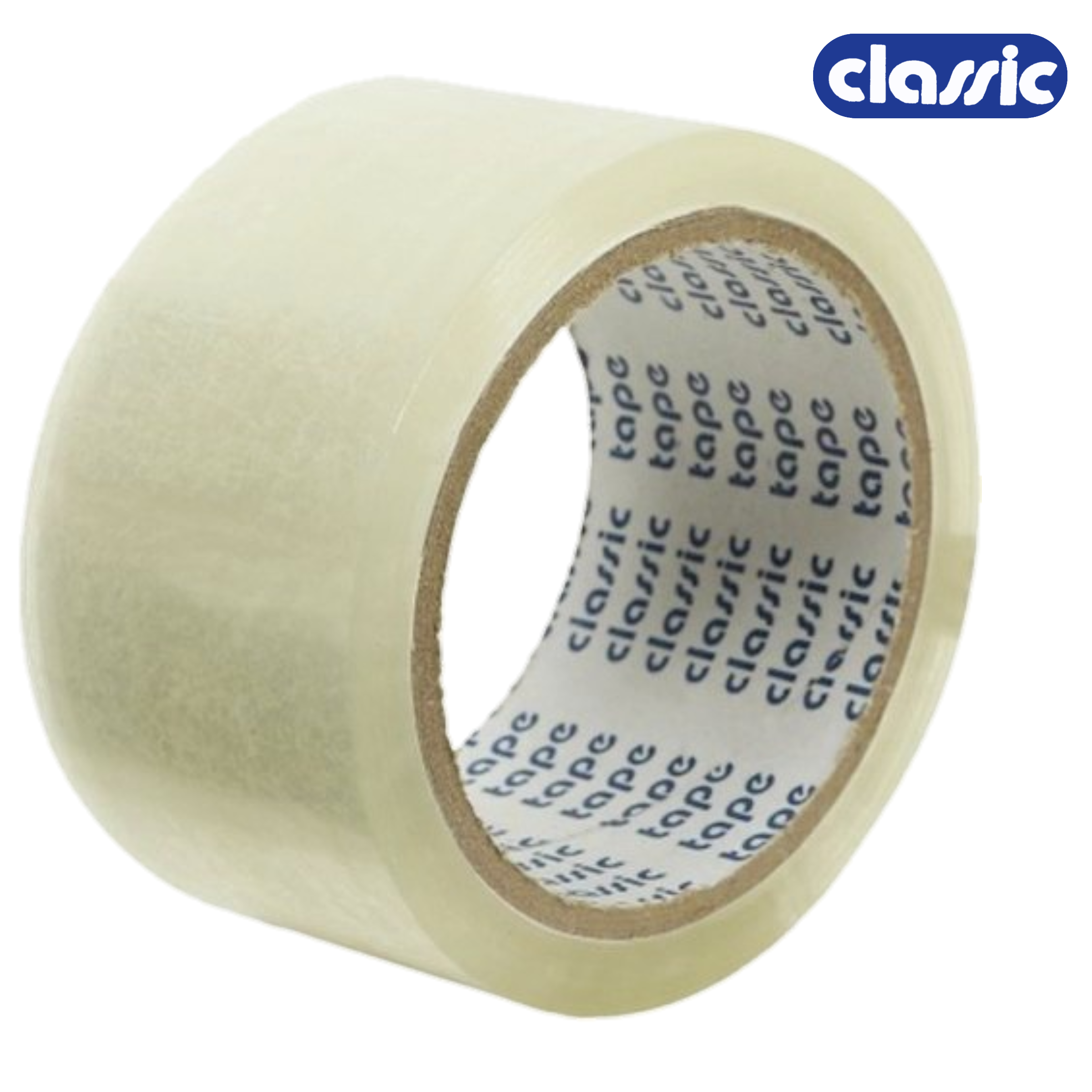 Classic 30 Micron 48 mm/2 Inch Transparent Self Adhesive Tape, Premium Quality,  Pack of 1 Roll