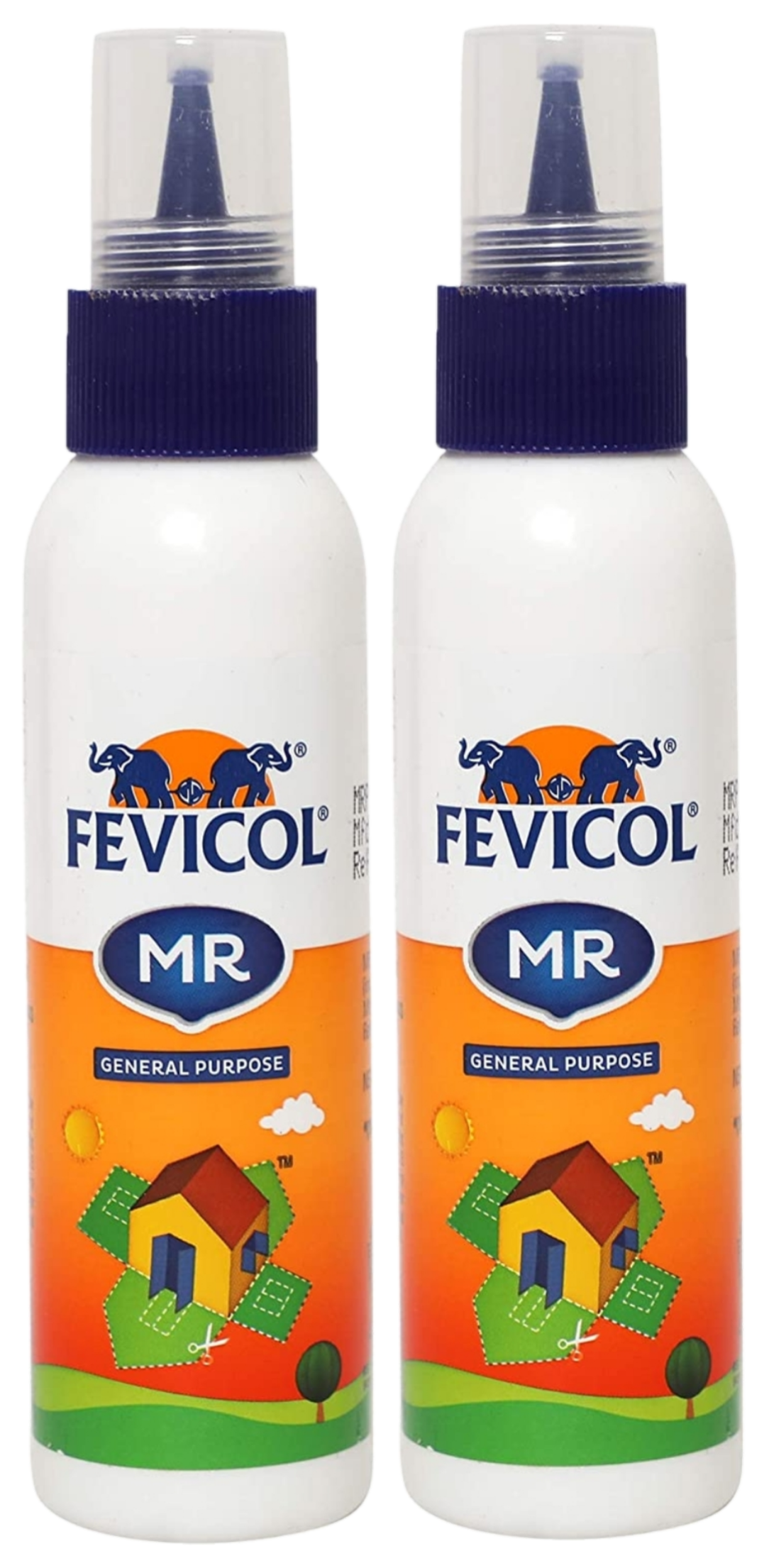 Fevicol MR Easy Flow Squeeze Bottle, 105g Pack of 2