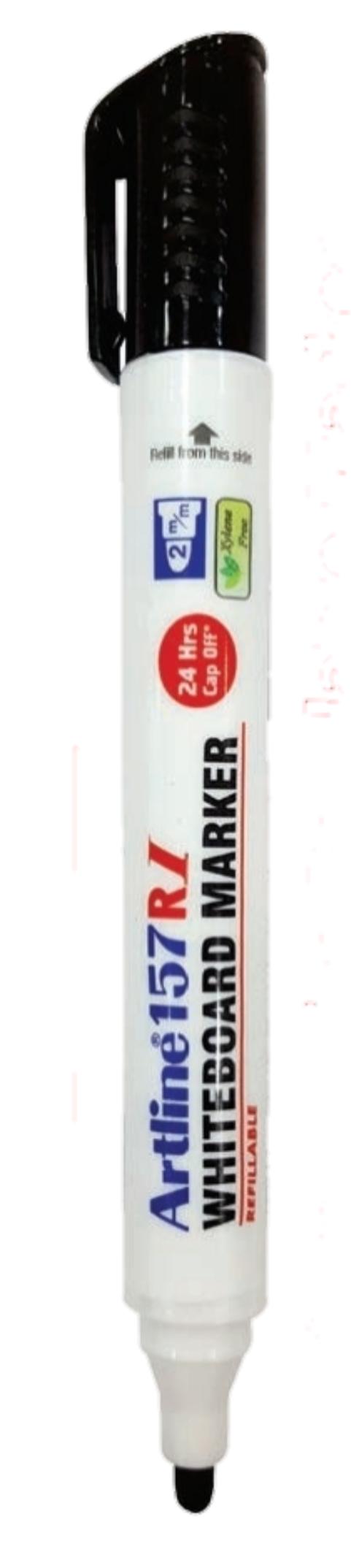 Artline White Board Marker 157 RI Refillable Black Colour Pack of 1 Marker