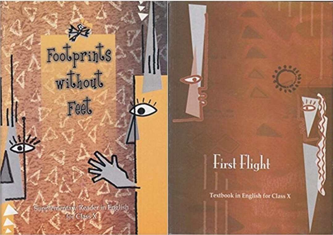 NCERT FootPrints Without Feet- Supplementary Reader and First Flight English Text Book for Class 10 Set of 2 Books