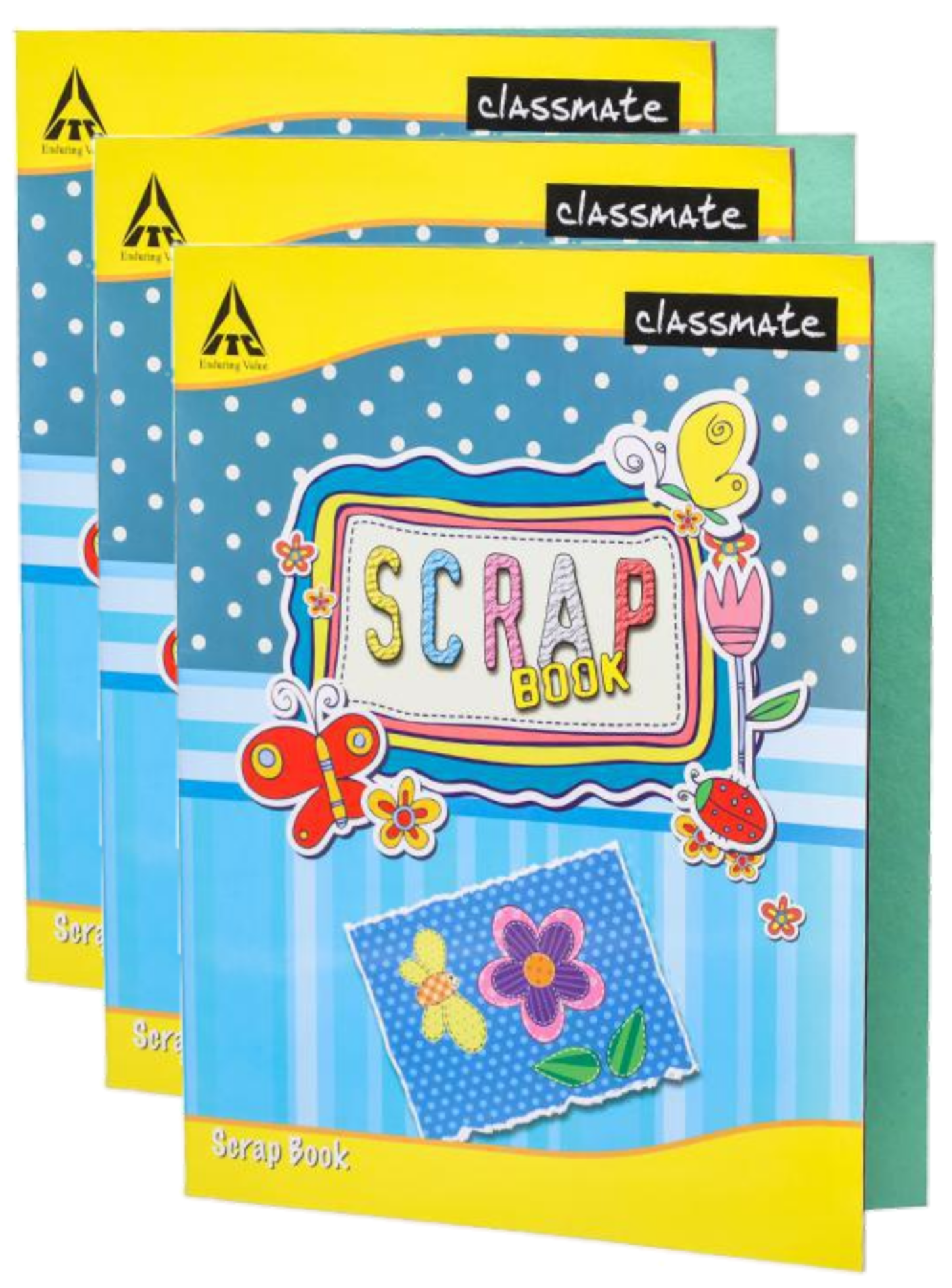 Classmate Scrap Book Soft Cover 32 Pages 28X22 cm Unruled Pack of 3