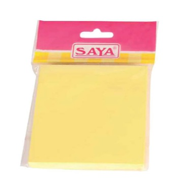 Saya Stick-eee Note Pads, 100 Sheets ,75X75mm, Pack of 1