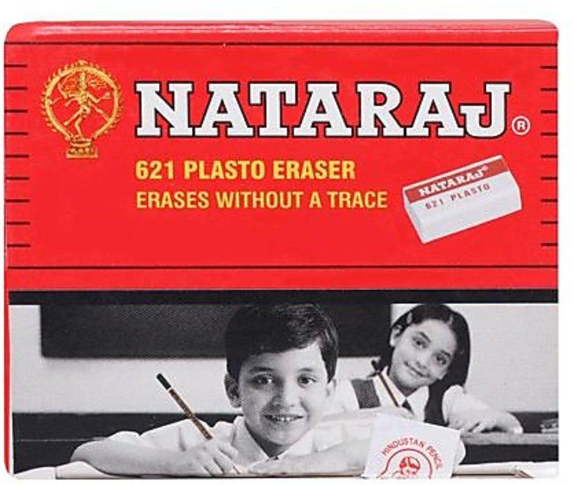 Nataraj Jumbo Plasto Eraser Pack of 10 Eraser
