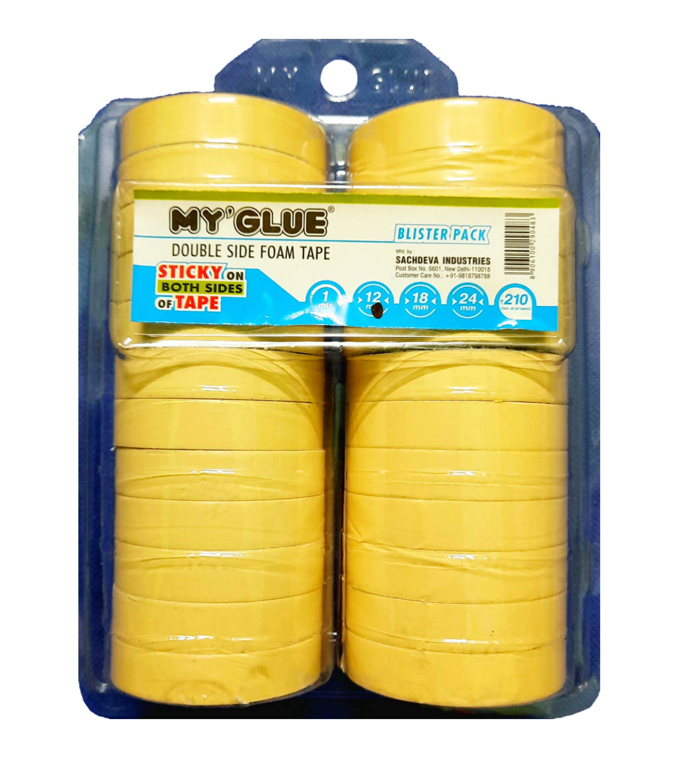 My Glue Multi-Purpose Double-Sided Mounting  Foam Tape  (12mmX5yards, Pack of 24)