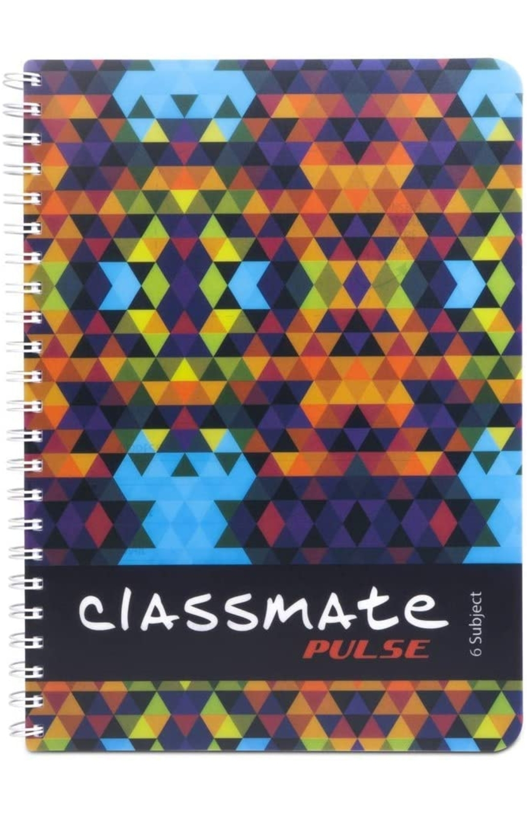 Classmate Pulse Notebook Soft Cover 6 Subject Spiral Binding Notebook Unruled 29.7 X 21 cm 300 Pages Pack of 1