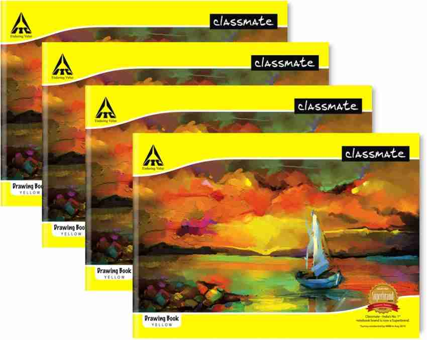 Classmate Drawing Exercise Note Book Unruled 40 Pages 21X29.7 cm Pack of 4