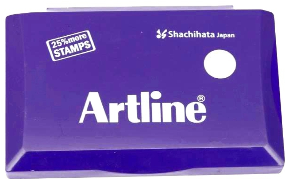 Artline Stamp Pad Small Size 101X61 MM Violet Ink  Pack of 1 Stamp Pad