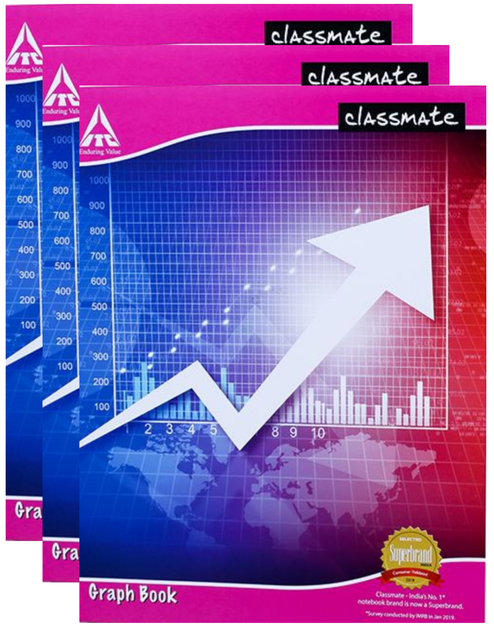 Classmate Graph Book 32 Pages Soft Cover 28X22 cm Square/Single Line Pack of 4