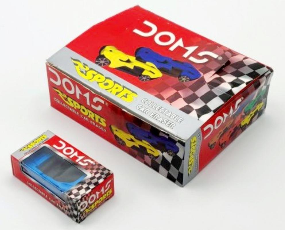 Doms Eraser Sports Car Coloured Sented Eraser Pack of 12 Eraser