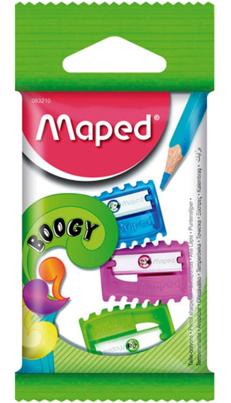 Maped Boogy 1 Hole Pencil Sharpener Pack of 6