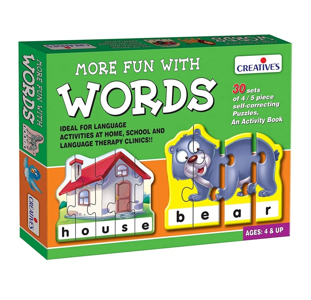 Creatives More Fun With Words Puzzle Multi Colour 30 Sets of 4/5 Pieces
