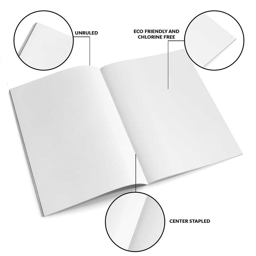 Classmate Unruled Notebook, 240 Pages, 29.7 X 21 cm, Pack of 3